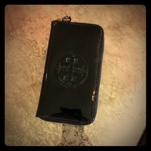 Tory Burch patent leather clutch